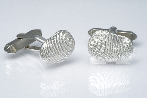 Sepia Paisley-shaped Cufflinks Silver