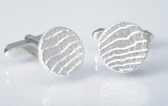 Textured cufflinks, Sepia Collection