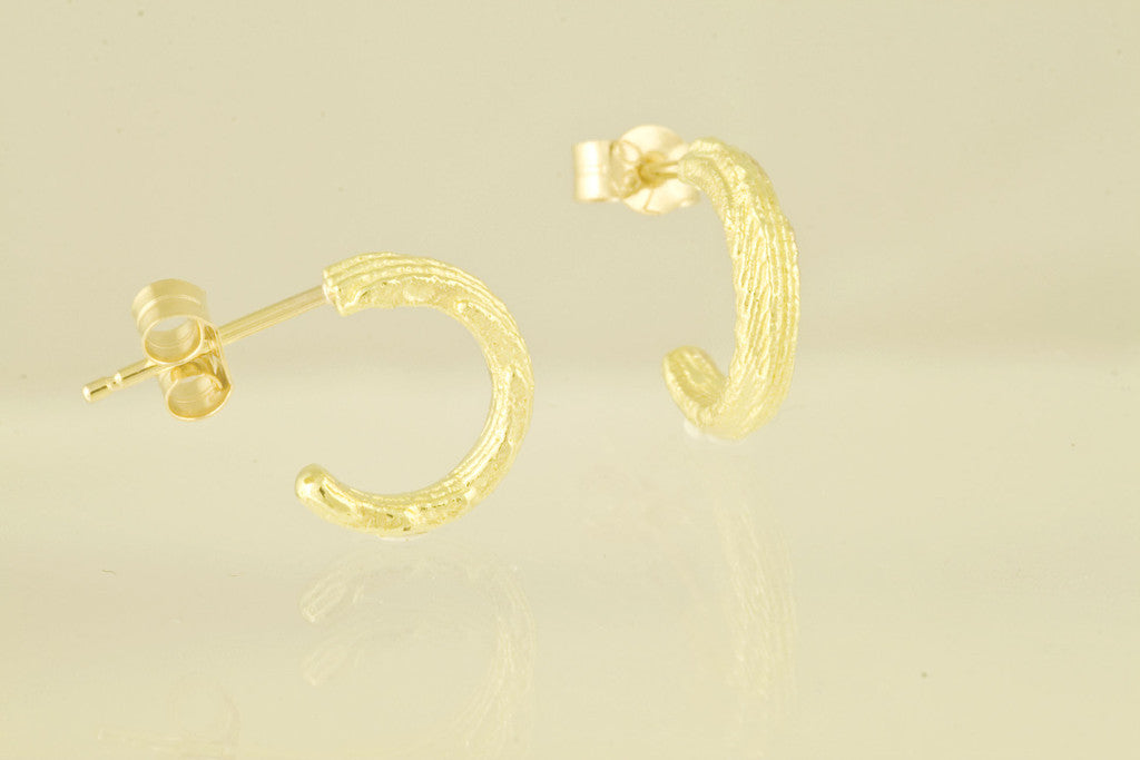 Sepia small hoop earrings 18kt gold