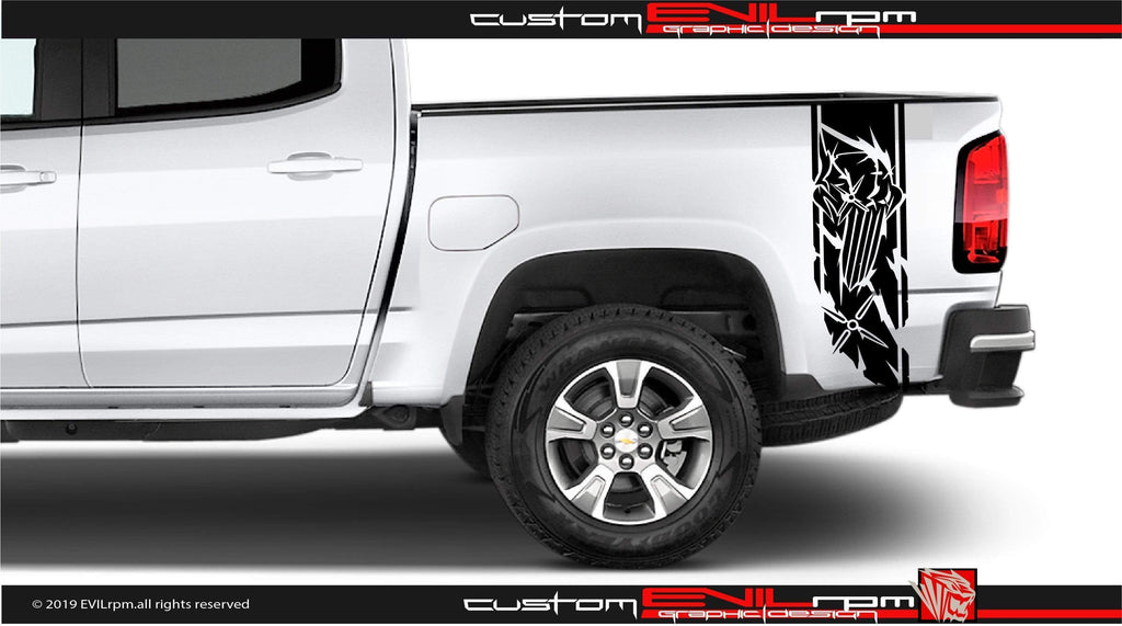 Chevrolet Colorado Punisher Vinyl Decal Graphics Evilrpm