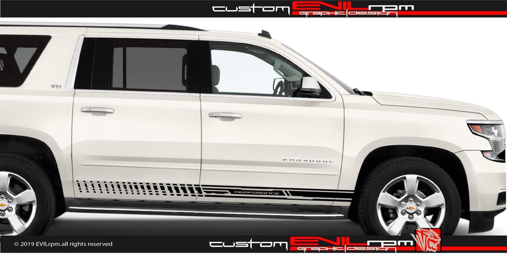 Racing stripes for Chevrolet Suburban 2015 2019 Evilrpm
