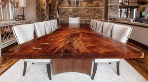 Custom walnut live edge dining table2