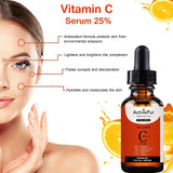 ActivePur Naturals Vitamin C Serum for Face, Topical Facial Serum with Hyaluronic Acid & Vitamin E, 1 fl oz and 2 fl OZ.