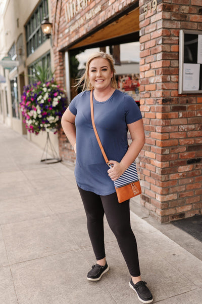 *Everyday Basic Coal Blue Top