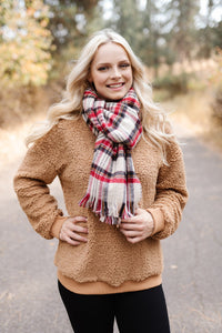 *All Tied Up in You Reversible Plaid/Hounds Tooth Long Scarf