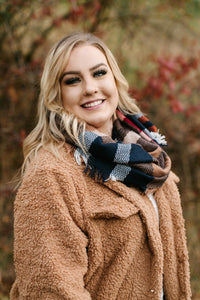 *All Tied Up In You Pumpkin Plaid Infinity Scarf