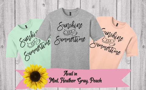 Sunshine & Summertime tee
