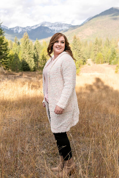 Snow In The Mountains Ivory Multi Cardigan