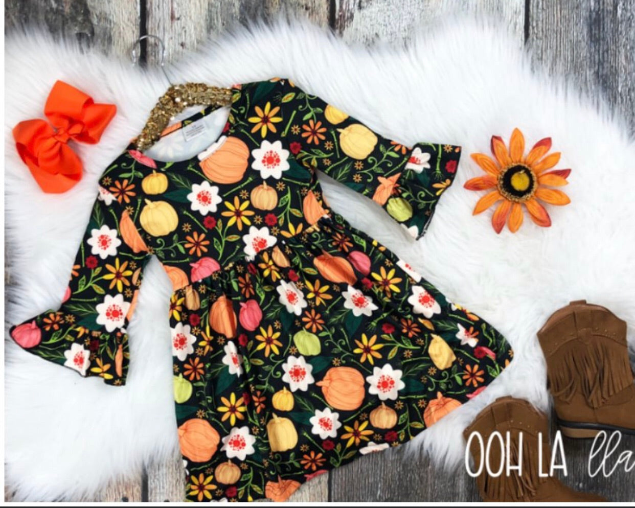 Ooh La LLama Fall Forever Dress