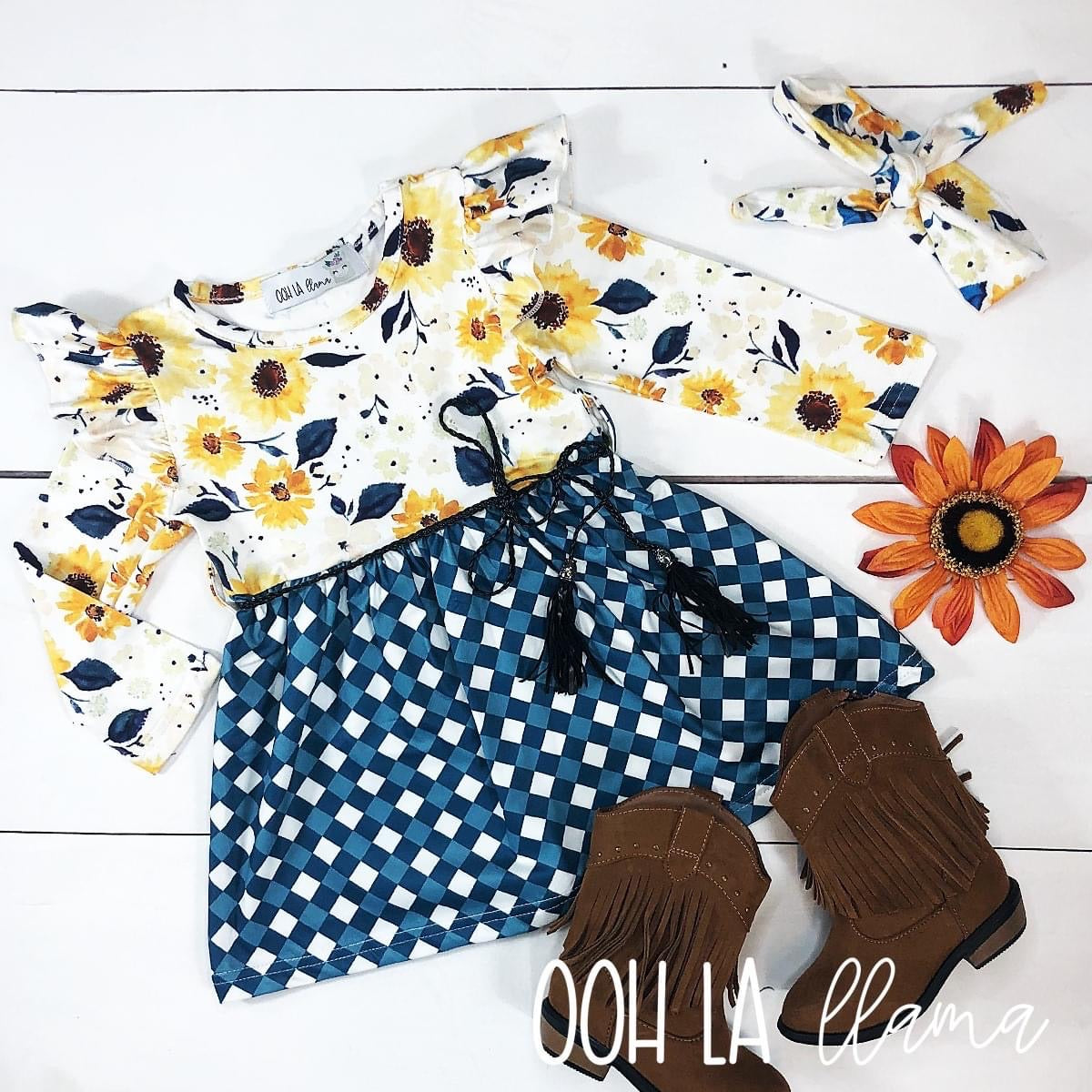 Sunny Sunflower Dress