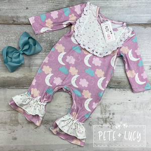 Moon & stars infant romper