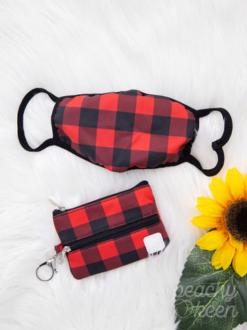 Buffalo plaid mini versi bag