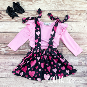 Sweetheart Suspender Skirt set