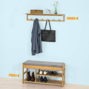 SoBuy Key Holder Mobile Entrance Wall Hanger Wood Wall Fhk06-N