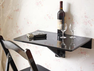 SoBuy Wall Table Folding Table Kitchen Table Black FWT03-SCH