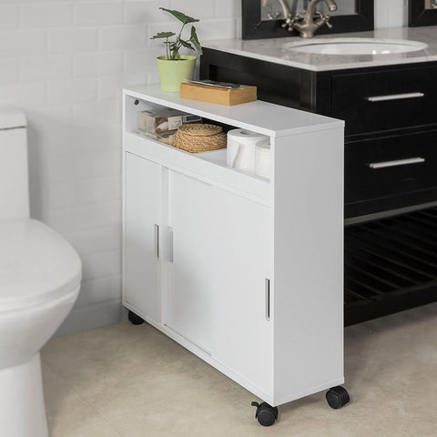 SoBuy organizer bathroom bathroom space-saving toilet roll holder white BZR02-W