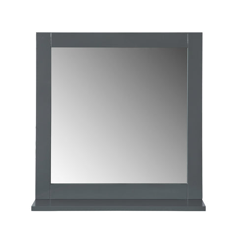 SoBuy Bathroom Mirror with shelves Gray Mirror L57 * H58 * D10 cm, BZR16-DG