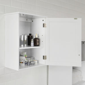 SoBuy Bathroom or Kitchen Wall Cabinet Bathroom Cabinet W40 * D23 * H52 cm, White BZR19-W