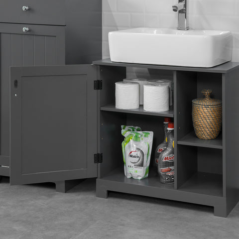 SoBuy Under Sink Bathroom Under Sink Cabinet Bathroom Sink with Cabinet Bathroom Sink Cabinet Bathroom Furniture BZR38-DG