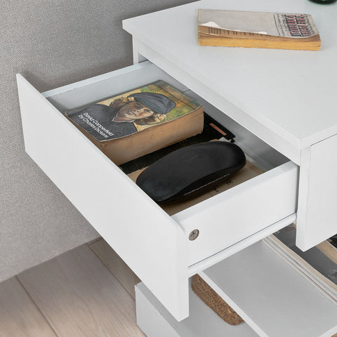 SoBuy Bedside Table Small Bedside Table White Sofa With Drawer Fbt49-W