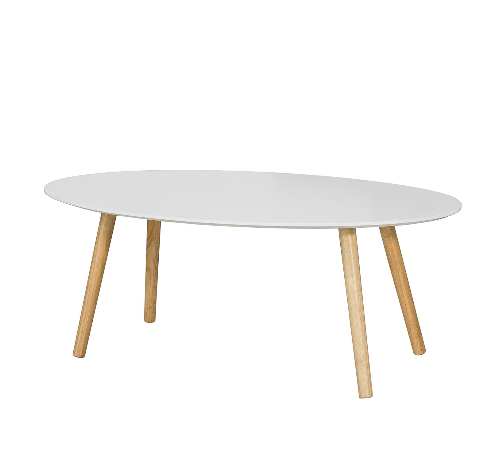 SoBuy Coffee Table Sofa Coffee Table Living Room Low Coffee Table White Oval Fbt61-W