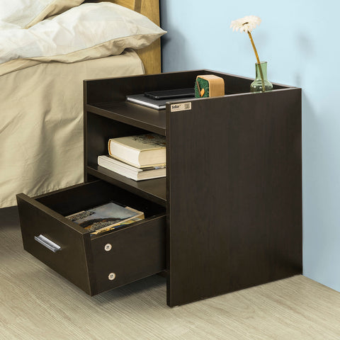 SoBuy Bedside Table Small Bedside Table Brown Sofa With Drawer Fbt66-Br