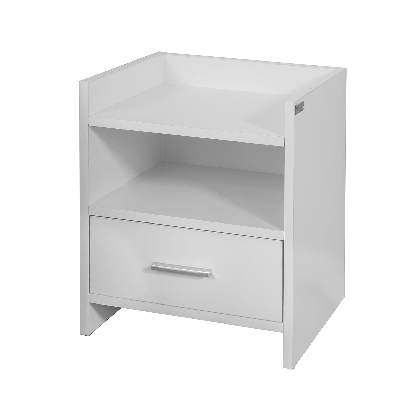 SoBuy Bedside Table Small Bedside Table White Sofa With Drawer Fbt66-W