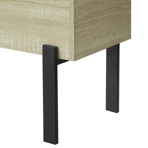 SoBuy Sofa Table Modular sofas Modern living room cabinet in Black and Wood FBT88-N