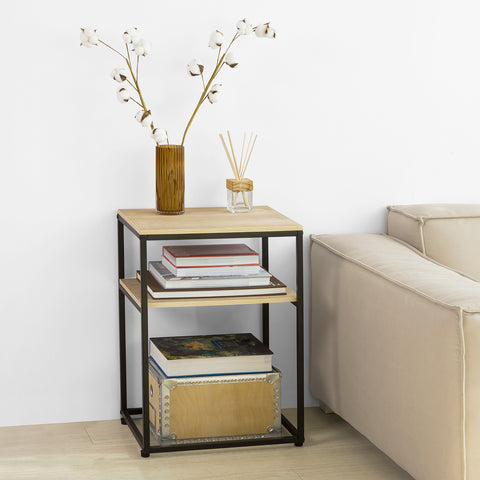 SoBuy Coffee Table with 2 Shelves Coffee Tables Modern Coffee Table Living Room FBT94-N
