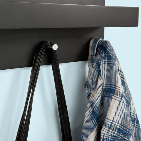 SoBuy Key hanger Coat rack Key holder Black Fhk02-Sch