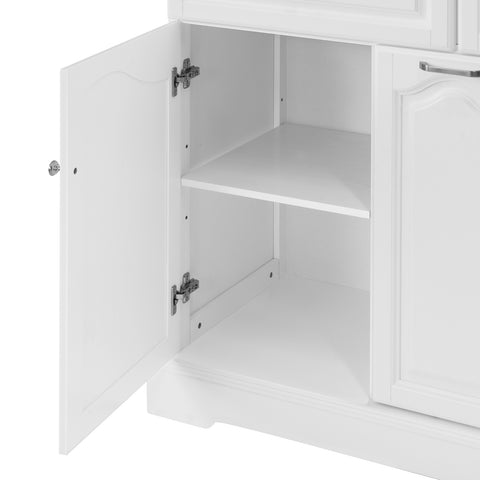 SoBuy Kitchen Trolley with Drawers Mobile Kitchen Cupboard with Wheels 115 x46 x90 cm FKW100-WN