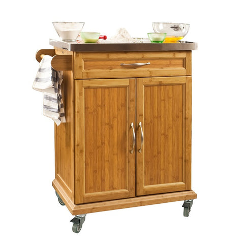 SoBuy Kitchen Cart Kitchen Sideboard Kitchen Cabinet Wood With Route Fkw13-N