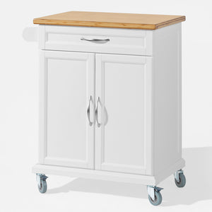 SoBuy Kitchen Cart Kitchen Sideboard White Kitchen Cabinet With Route Fkw13-Wn