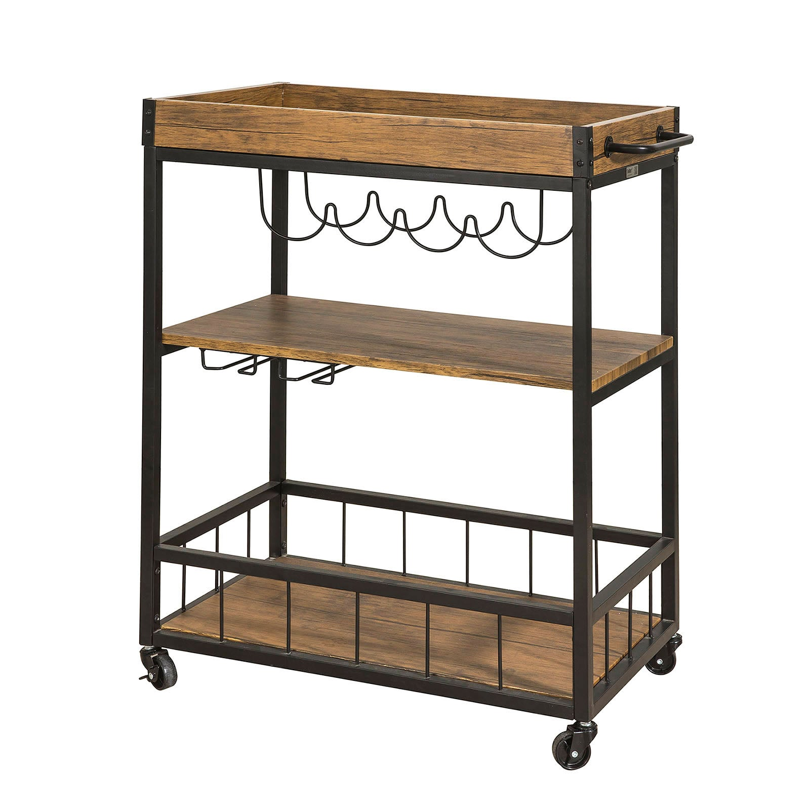 SoBuy Kitchen Cart Kitchen Sideboard Kitchen Cabinet Wood With Route Fkw56-N