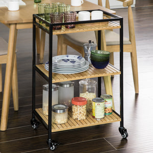 SoBuy Kitchen trolley Space-saving trolley Food trolley FKW65-N