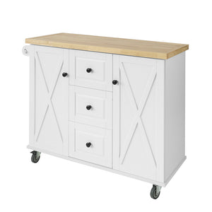 SoBuy Kitchen Cart Kitchen Sideboard White Kitchen Cabinet With Route FKW96-WN