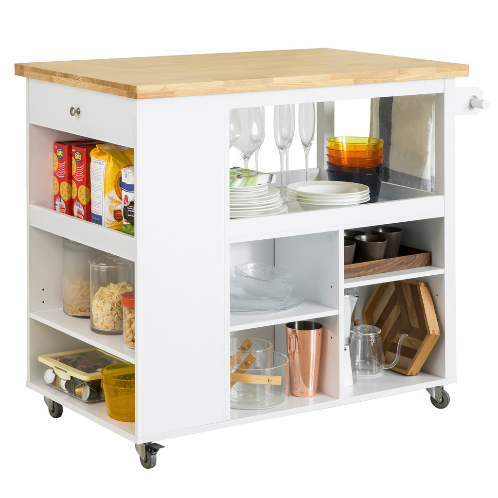SoBuy Kitchen Trolley Kitchen Sideboard με 3 ράφια 108x60x90cm FKW97-WN