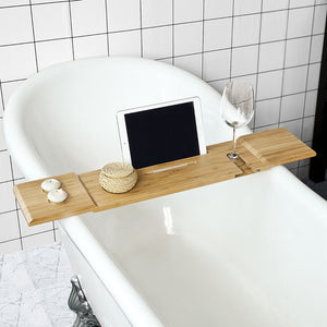 SoBuy Bathroom Accessories Bath Shelf Set Bathtub Tray Wood Frg104-LN