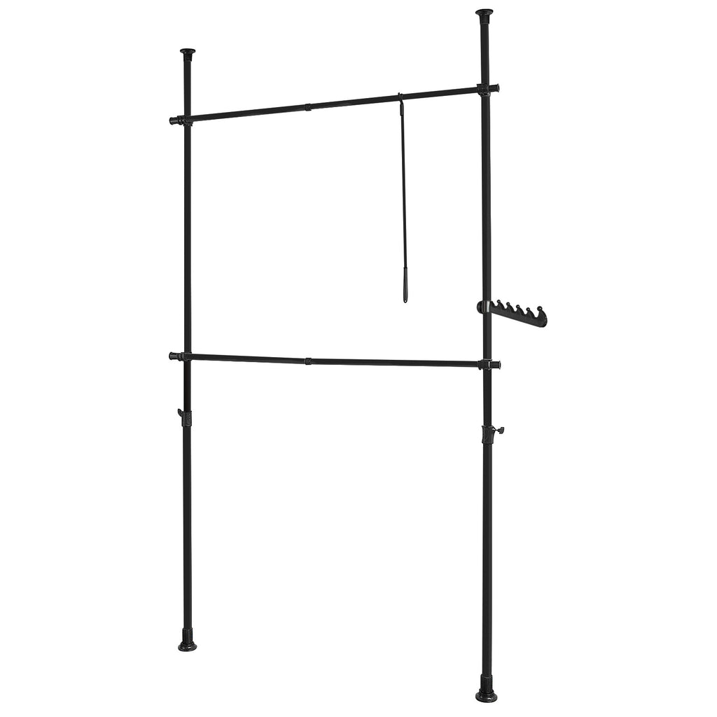 SoBuy Walk-in Closet Wardrobe Modular Coat Rack Black FRG109-SCH