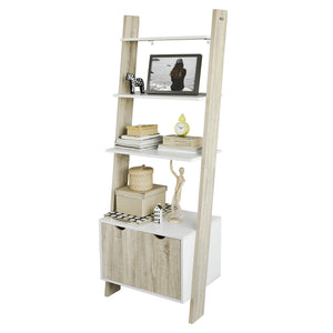 SoBuy Bookshelf Ladder Bookcase White Ladder Bookcase Frg110-Wn