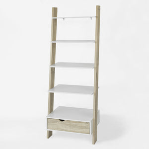 SoBuy Bookshelf Ladder Bookcase White Ladder Bookcase Frg112-Wn