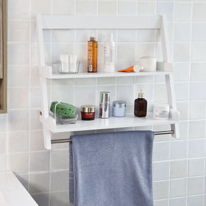 SoBuy bathroom shelf towel rack bathroom cabinet FRG117-W