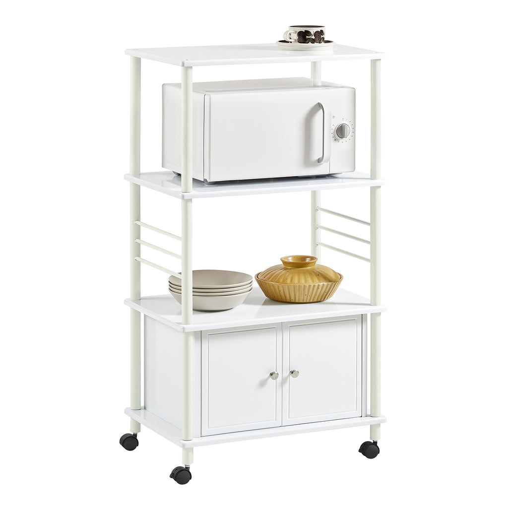 SoBuy Kitchen Cabinet Kitchen Trolley Microwave White Frg12-W