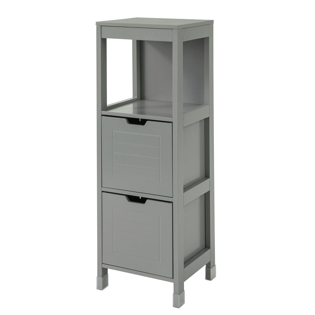 SoBuy Bathroom cabinet Column bathroom cabinet Space-saving Gray W30 * D30 * H90 cm FRG127-SG