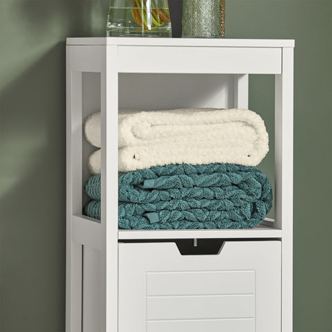 SoBuy Bathroom Cabinet Column Bathroom White Bathroom Drawer With Drawers Frg127-W
