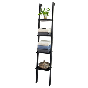 SoBuy Bookshelf Ladder Bookshelf Ladder Bookshelf Black Frg15-Sch