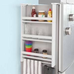 SoBuy Corner Shelves For Space-saving Wall Kitchen Storage To Hang White Frg150-W