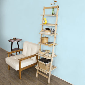 SoBuy Bookshelf Ladder Bookshelf Wood Ladder Bookshelf Frg161-N