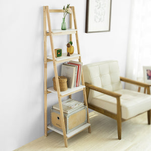 SoBuy Bookshelf Ladder Bookshelf Wood Ladder Bookshelf Frg162-N