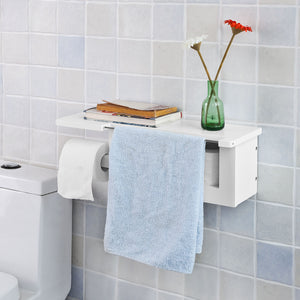 SoBuy Free Standing Bathroom Furniture Bathroom Space-saving Roll Holder White Frg175-W